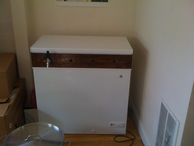 Kegerator from front